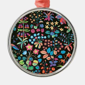padrão floral em fundo escuro christmas tree ornament