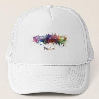 Padua skyline in watercolor trucker hat