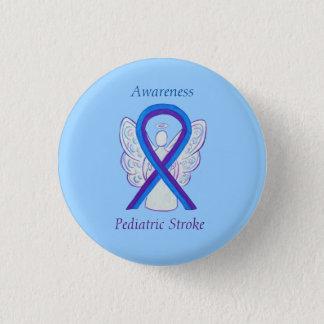 Paediatrics Stroke Awareness Ribbon Angel Pin
