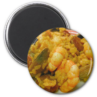 Paella Shrimp Clams Sausages Rice Magnet