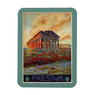 Paestum ancient Greek temple Italian travel ad Magnet