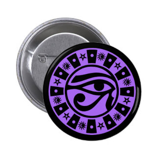 Pagan Ancient Egyptian Eye of Horus Occult Symbol 6 Cm Round Badge