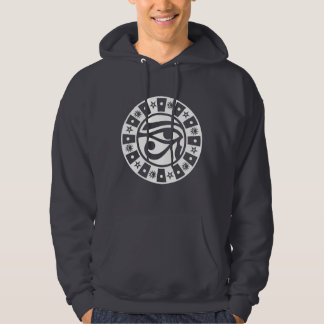 Pagan Ancient Egyptian Eye of Horus Occult Symbol Hooded Pullover