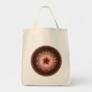 pagan calendar grocery tote bag