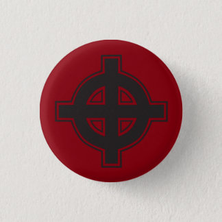 Pagan Cross 3 Cm Round Badge