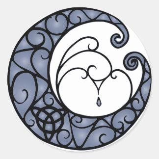 Pagan Moon Purple and Black Sticker