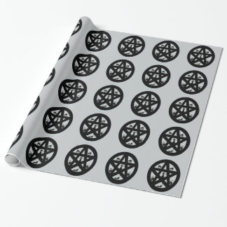 Pagan Pentacle and Black Cats Wrapping Paper