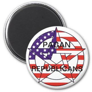 Pagan Republicans 6 Cm Round Magnet