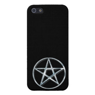 Pagan Silver Pentacle iPhone Case