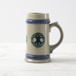 Pagan tree of life beer stein