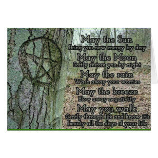Pagan Wiccan Inspirational Greeting Card