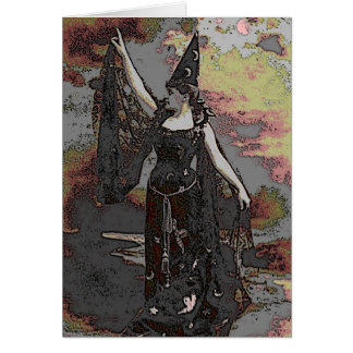 Pagan Witch Wicca Greeting Card