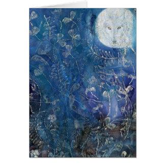 Pagan Wolf Moon Card