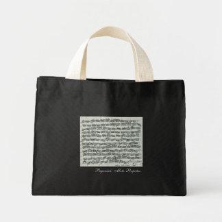 Paganini Moto Perpetuo Violin Music Manuscript Mini Tote Bag