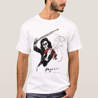 Paganini playing a red violin T-shirt