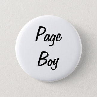 Page Boy Badge