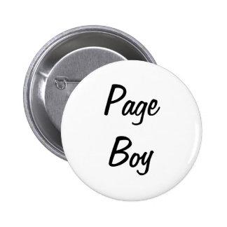 Page Boy Badge