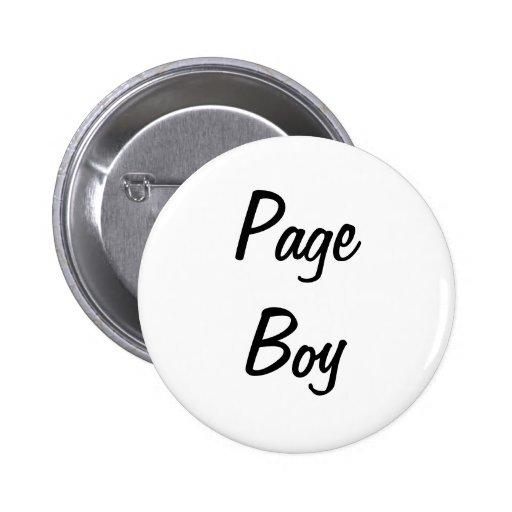 Page Boy Badge Pin
