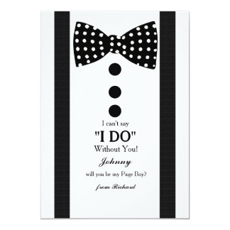 Page Boy Request Card 13 Cm X 18 Cm Invitation Card