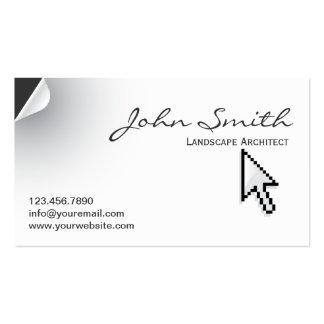 Page Curl Landscape Architect Business Card
