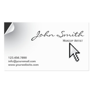 Page Curl Make-up Artist Business Card