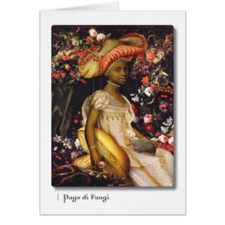Page di Fungi Tarot Greeting Card