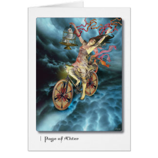 Page of Aether Tarot Greeting Card
