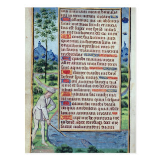 Page of Latin text with border Postcard