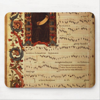 Page of Musical Notation with historiated Mouse Pad