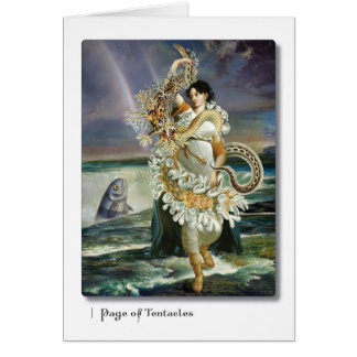 Page of Tentacles Tarot Greeting Card