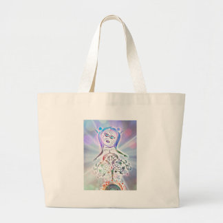Page Of Wands Large Tote Bag