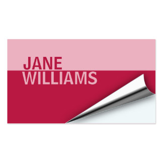 Page Turn Designer Business Card (american beauty)