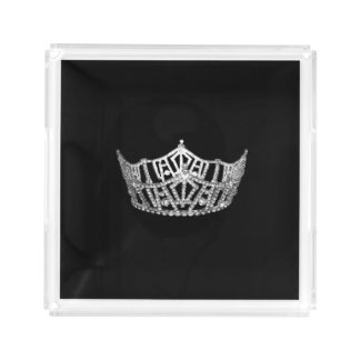 Pageant Crown Acrylic Tray