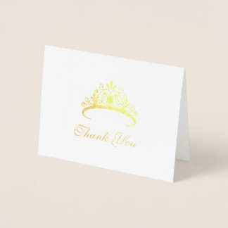 Pageant Tiara Thank You Card