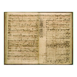 Pages from Score of the The Art of the Fugue Post Cards