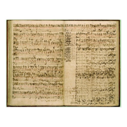 Pages from Score of the 'The Art of the Fugue' Post Cards