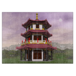 Pagoda - 3D render Cutting Board
