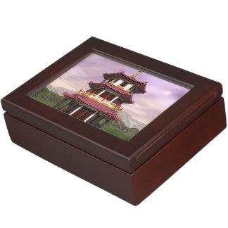 Pagoda - 3D render Keepsake Boxes