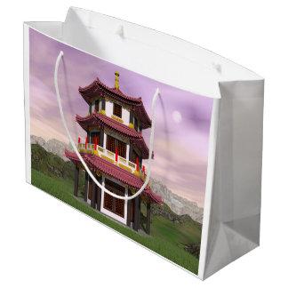 Pagoda - 3D render Large Gift Bag
