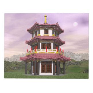 Pagoda - 3D render Notepad