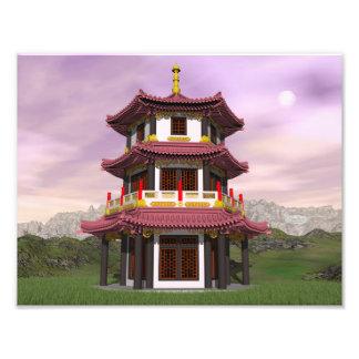 Pagoda - 3D render Photo Print