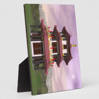 Pagoda - 3D render Plaque