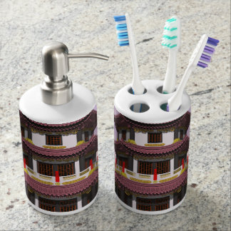 Pagoda - 3D render Toothbrush Holders