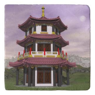 Pagoda - 3D render Trivet