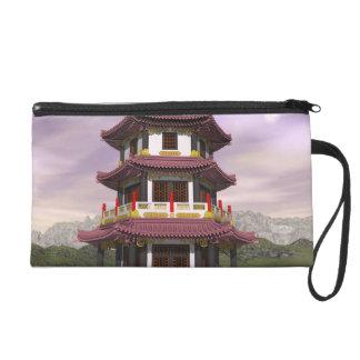 Pagoda - 3D render Wristlet Purse