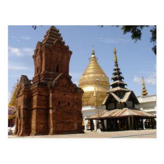 Pagoda in Myanmar Postcard