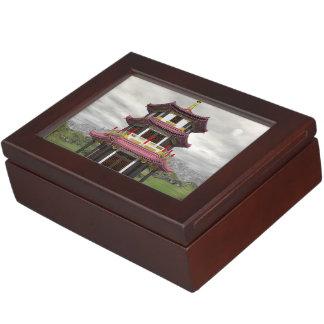 Pagoda in nature - 3D render Keepsake Box