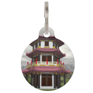 Pagoda in nature - 3D render Pet Tag