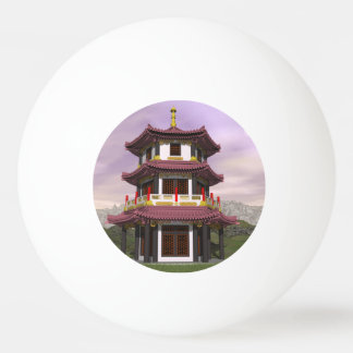 Pagoda in nature - 3D render Ping Pong Ball