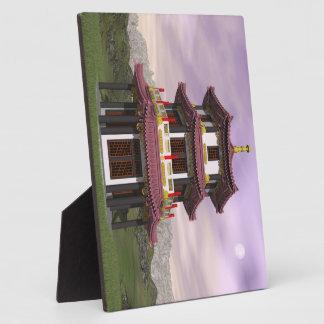 Pagoda in nature - 3D render Plaque